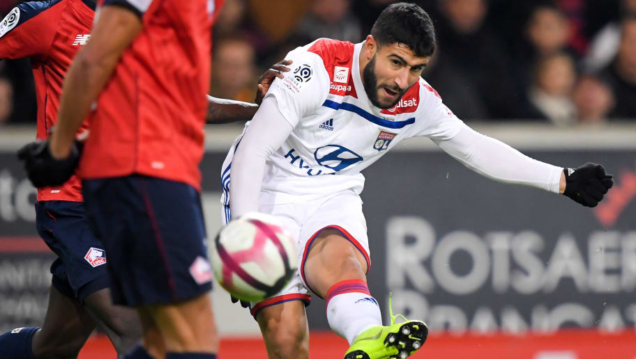 LILLE, FRANCE - DECEMBER 1: Nabil Fekir of Olympique Lyon  during the French League 1  match between Lille v Olympique Lyon at the Stade Pierre Mauroy on December 1, 2018 in Lille France (Photo by Angelo Blankespoor/Soccrates/Getty Images)