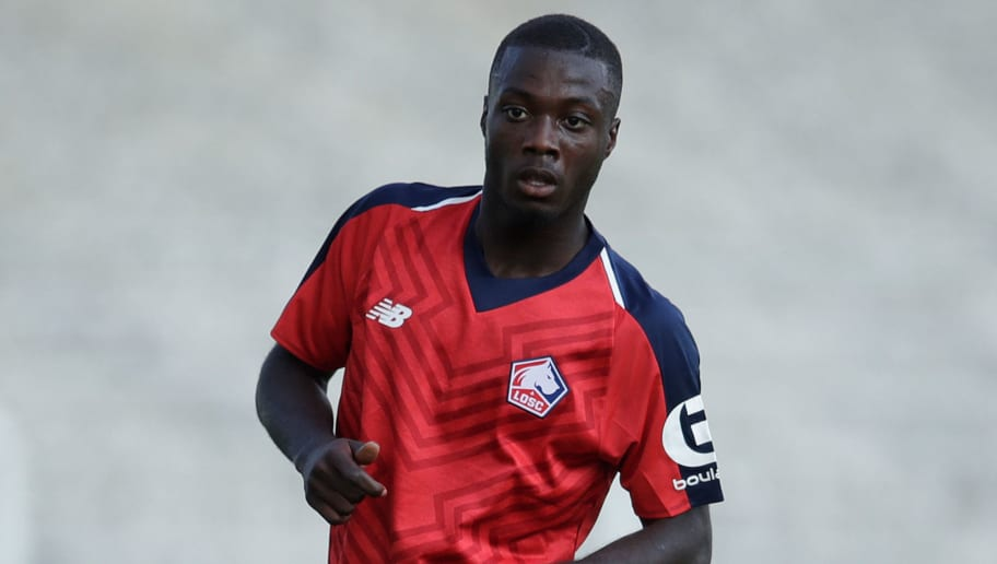 SAINT QUENTIN, FRANCE - JULY 14: Nicolas Pepe of Lille during the Club Friendly   match between Lille v Reims at the Stade Paul Debresie on July 14, 2018 in Saint Quentin France (Photo by Laurens Lindhout/Soccrates/Getty Images)