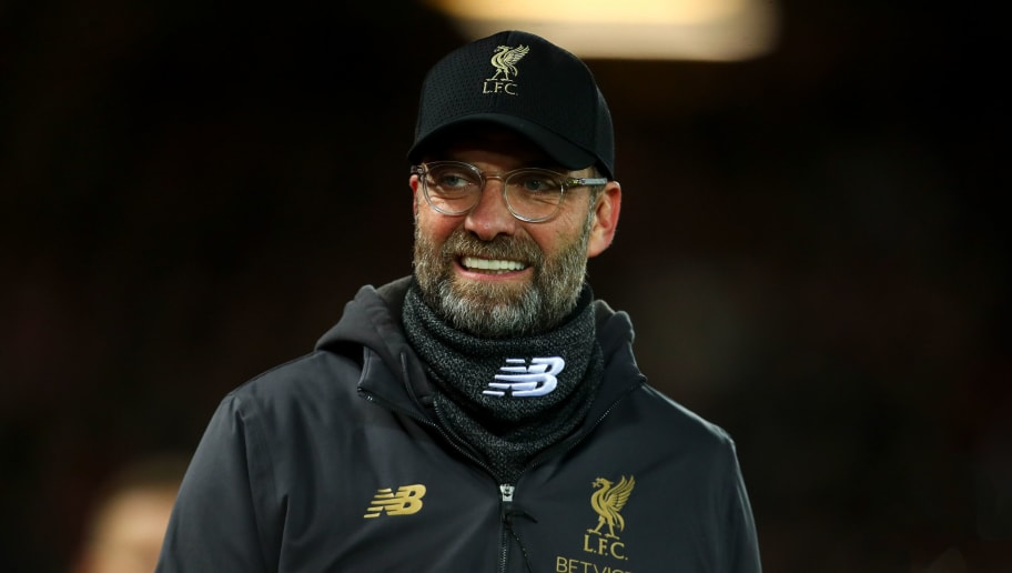 LIVERPOOL, ENGLAND - DECEMBER 29: Jurgen Klopp manager / head coach of Liverpool during the Premier League match between Liverpool FC and Arsenal FC at Anfield on December 29, 2018 in Liverpool, United Kingdom. (Photo by Robbie Jay Barratt - AMA/Getty Images)