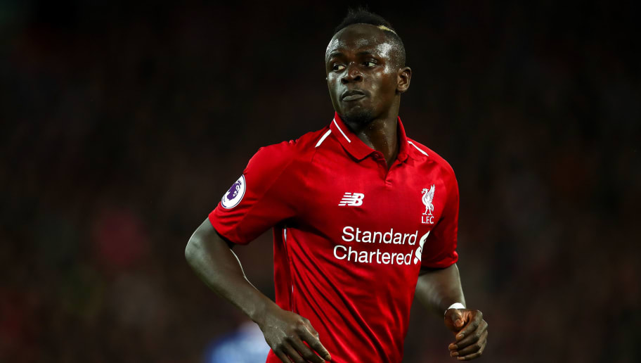 LIVERPOOL, ENGLAND - DECEMBER 02: Sadio Mane of Liverpool during the Premier League match between Liverpool FC and Everton FC at Anfield on December 2, 2018 in Liverpool, United Kingdom. (Photo by Robbie Jay Barratt - AMA/Getty Images)