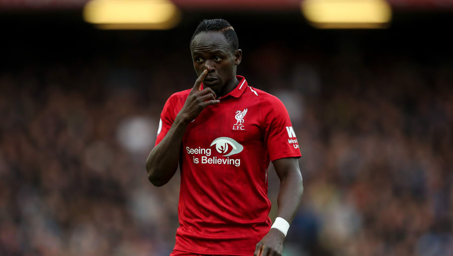 LIVERPOOL, ENGLAND - OCTOBER 07: Sadio Mane of Liverpool  during the Premier League match between Liverpool FC and Manchester City at Anfield on October 7, 2018 in Liverpool, United Kingdom. (Photo by Robbie Jay Barratt - AMA/Getty Images)