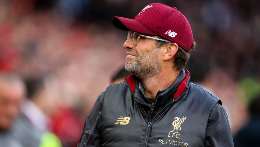 LIVERPOOL, ENGLAND - OCTOBER 07: Jurgen Klopp manager / head coach of Liverpool during the Premier League match between Liverpool FC and Manchester City at Anfield on October 7, 2018 in Liverpool, United Kingdom. (Photo by Robbie Jay Barratt - AMA/Getty Images)