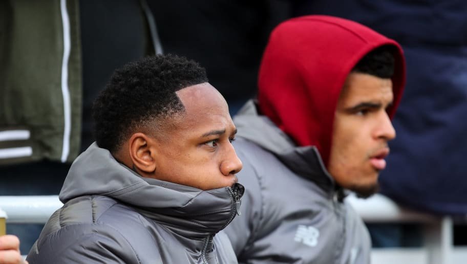 LIVERPOOL, ENGLAND - OCTOBER 07: Nathaniel Clyne of Liverpool sat on the bench during the Premier League match between Liverpool FC and Manchester City at Anfield on October 7, 2018 in Liverpool, United Kingdom. (Photo by Robbie Jay Barratt - AMA/Getty Images)