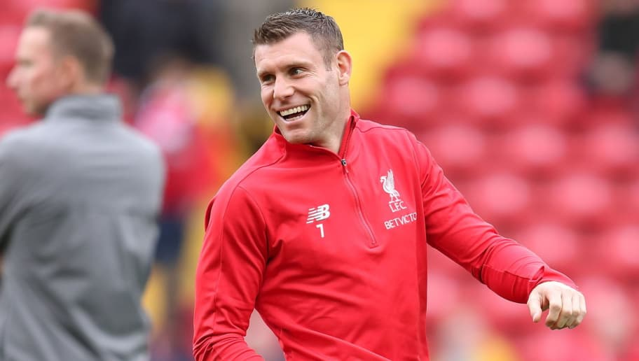 LIVERPOOL, ENGLAND - SEPTEMBER 22: James Milner of Liverpool during the Premier League match between Liverpool FC and Southampton FC at Anfield on September 22, 2018 in Liverpool, United Kingdom. (Photo by James Williamson - AMA/Getty Images)