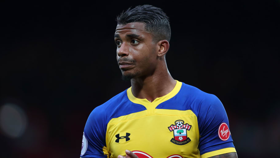 LIVERPOOL, ENGLAND - SEPTEMBER 22: Mario Lemina of Southampton during the Premier League match between Liverpool FC and Southampton FC at Anfield on September 22, 2018 in Liverpool, United Kingdom. (Photo by James Williamson - AMA/Getty Images)