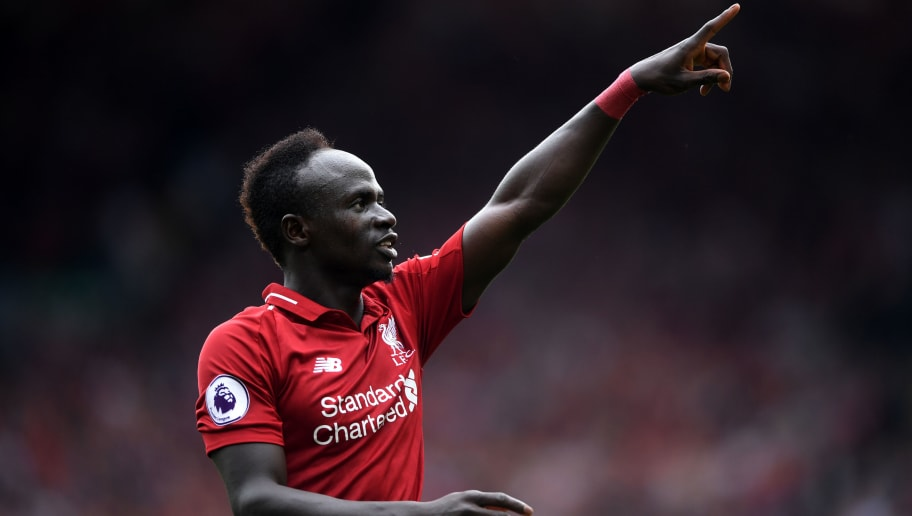 LIVERPOOL, ENGLAND - AUGUST 12:  Sadio Mane of Liverpool celebrates after scoring his team's third goal during the Premier League match between Liverpool FC and West Ham United at Anfield on August 12, 2018 in Liverpool, United Kingdom.  (Photo by Laurence Griffiths/Getty Images)