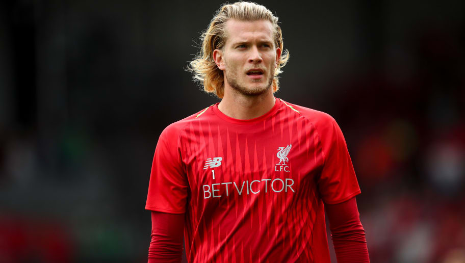 LIVERPOOL, ENGLAND - AUGUST 12: Loris Karius of Liverpool during the Premier League match between Liverpool FC and West Ham United at Anfield on August 12, 2018 in Liverpool, United Kingdom. (Photo by Robbie Jay Barratt - AMA/Getty Images)