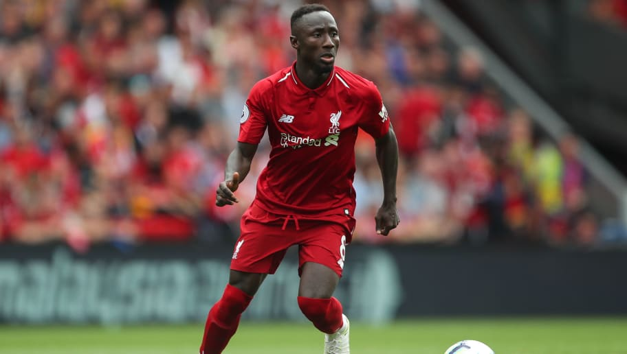 LIVERPOOL, ENGLAND - AUGUST 12: Naby Keita of Liverpool during the Premier League match between Liverpool FC and West Ham United at Anfield on August 12, 2018 in Liverpool, United Kingdom. (Photo by Robbie Jay Barratt - AMA/Getty Images)