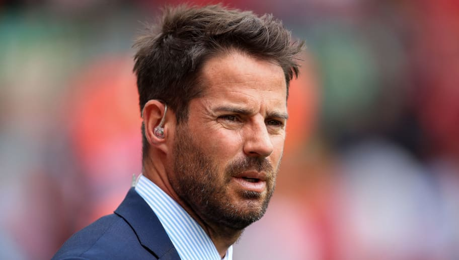 LIVERPOOL, ENGLAND - AUGUST 12: Jamie Redknapp prior to the Premier League match between Liverpool FC and West Ham United at Anfield on August 12, 2018 in Liverpool, United Kingdom. (Photo by Robbie Jay Barratt - AMA/Getty Images)