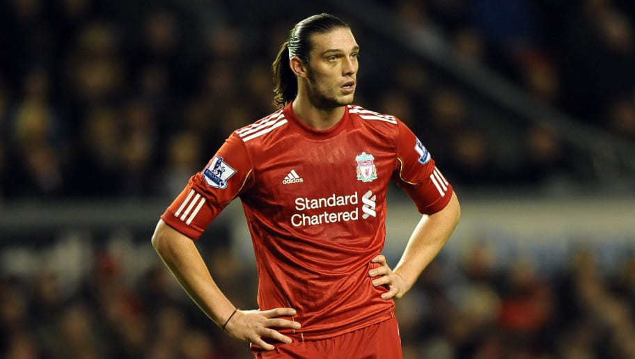 Liverpool's English forward Andy Carroll