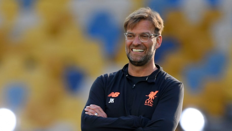 KIEV, UKRAINE - MAY 25:  Jurgen Klopp, Manager of Liverpool looks on during a Liverpool training session ahead of the UEFA Champions League Final against Real Madrid at NSC Olimpiyskiy Stadium on May 25, 2018 in Kiev, Ukraine.  (Photo by Shaun Botterill/Getty Images)