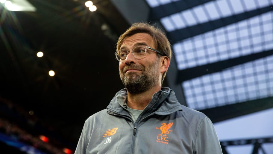 LIVERPOOL, ENGLAND - APRIL 24: Jurgen Klopp manager / head coach of Liverpool during the UEFA Champions League Semi Final First Leg match between Liverpool and A.S. Roma at Anfield on April 24, 2018 in Liverpool, United Kingdom. (Photo by Robbie Jay Barratt - AMA/Getty Images)