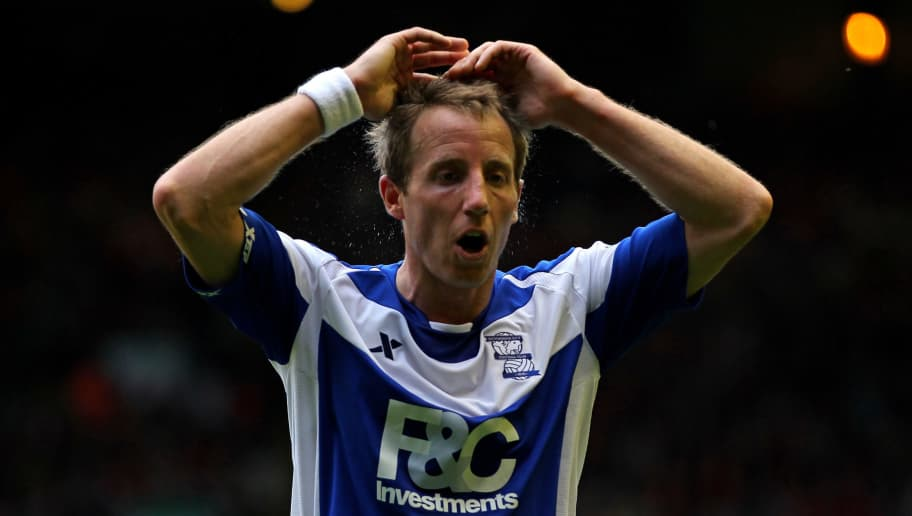 LIVERPOOL, ENGLAND - APRIL 23:  Lee Bowyer of Birmingham City shows his frustration during the Barclays Premier League match between Liverpool and Birmingham City at Anfield on April 23, 2011 in Liverpool, England.  (Photo by Clive Brunskill/Getty Images)