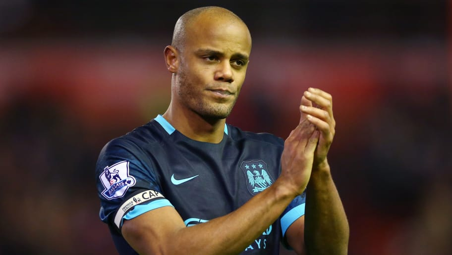 LIVERPOOL, ENGLAND - MARCH 02: Vincent Kompany of Manchester City walks off dejected after the Barclays Premier League match between Liverpool and Manchester City at Anfield on March 2, 2016 in Liverpool, England.  (Photo by Clive Brunskill/Getty Images)