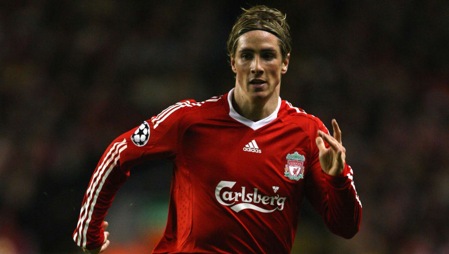 LIVERPOOL, UNITED KINGDOM - NOVEMBER 26:  Fernando Torres of Liverpool in action during the UEFA Champions League Group D match between Liverpool and Marseille at Anfield on November 26, 2008 in Liverpool, England.  (Photo by Laurence Griffiths/Getty Images)