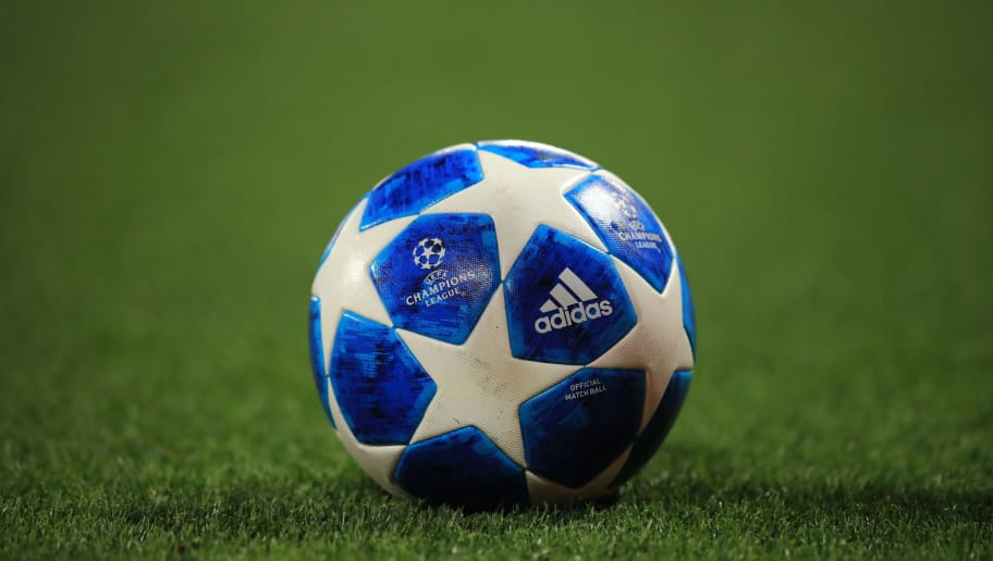 LIVERPOOL, ENGLAND - SEPTEMBER 18:  Detail of the 2018/19 Adidas Champions League match ball during the Group C match of the UEFA Champions League between Liverpool and Paris Saint-Germain at Anfield on September 18, 2018 in Liverpool, United Kingdom. (Photo by Marc Atkins/Getty Images)