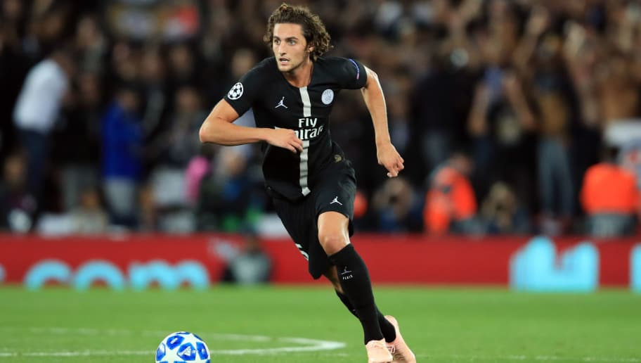 LIVERPOOL, ENGLAND - SEPTEMBER 18:  Adrien Rabiot of Paris Saint-Germain during the Group C match of the UEFA Champions League between Liverpool and Paris Saint-Germain at Anfield on September 18, 2018 in Liverpool, United Kingdom. (Photo by Marc Atkins/Getty Images)