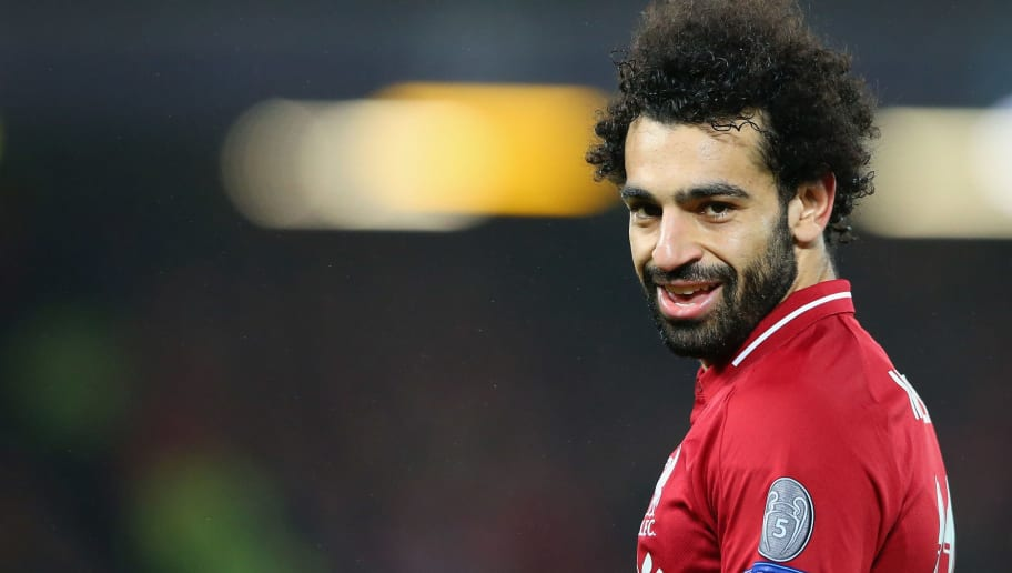 LIVERPOOL, ENGLAND - DECEMBER 11:  Mohamed Salah of Liverpool looks on during the UEFA Champions League Group C match between Liverpool and SSC Napoli at Anfield on December 11, 2018 in Liverpool, United Kingdom.  (Photo by Alex Livesey - Danehouse/Getty Images)