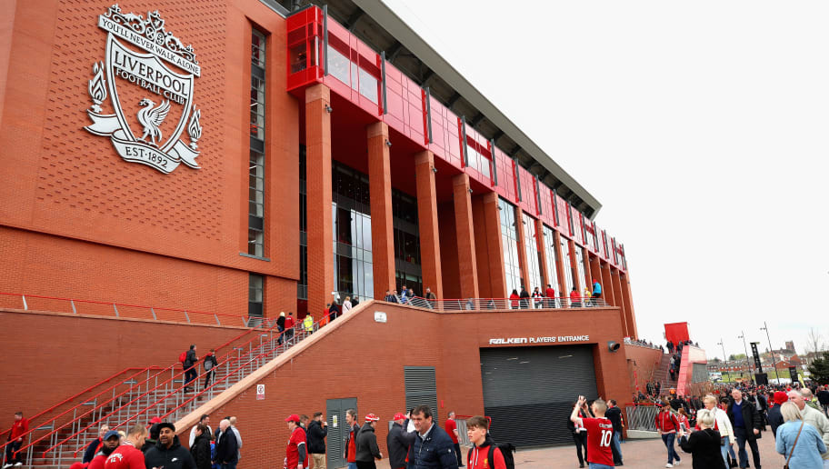 LIVERPOOL, ENGLAND - APRIL 28:  A general view from outside the stadium prior to the Premier League match between Liverpool and Stoke City at Anfield on April 28, 2018 in Liverpool, England.  (Photo by Clive Brunskill/Getty Images)