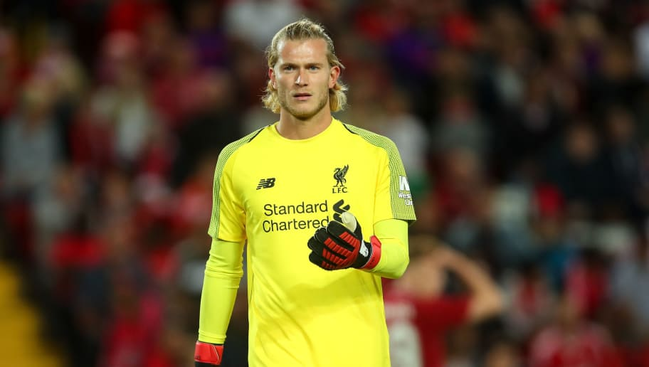 LIVERPOOL, ENGLAND - AUGUST 07: Loris Karius of Liverpool during the pre-season friendly between Liverpool and Torino at Anfield on August 7, 2018 in Liverpool, England. (Photo by Robbie Jay Barratt - AMA/Getty Images)