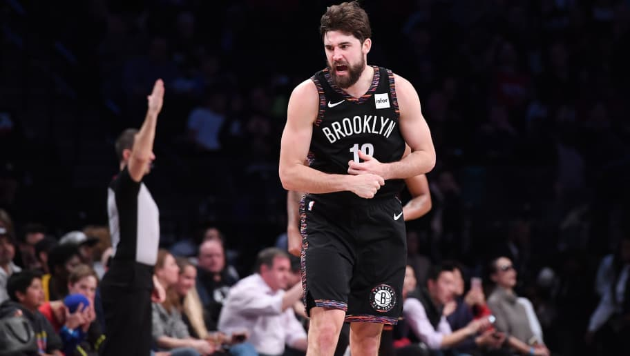 NEW YORK, NY - NOVEMBER 17: Joe Harris #12 of the Brooklyn Nets reacts during the game against the Los Angeles Clippers at Barclays Center on November 17, 2018 in the Brooklyn borough of New York City. NOTE TO USER: User expressly acknowledges and agrees that, by downloading and or using this photograph, User is consenting to the terms and conditions of the Getty Images License Agreement. (Photo by Matteo Marchi/Getty Images)