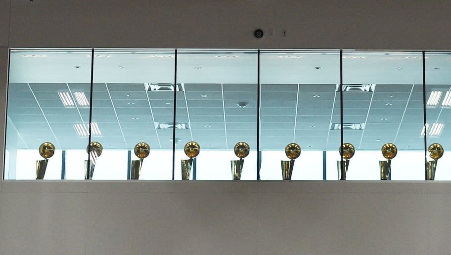 Image result for lakers championship trophies