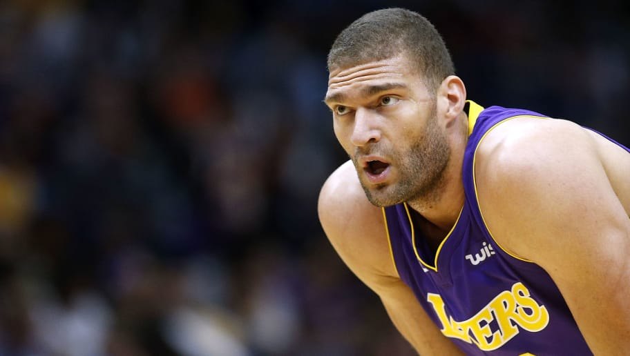 NEW ORLEANS, LA - MARCH 22:  Brook Lopez #11 of the Los Angeles Lakers reacts during the first half against the New Orleans Pelicans at the Smoothie King Center on March 22, 2018 in New Orleans, Louisiana. NOTE TO USER: User expressly acknowledges and agrees that, by downloading and or using this photograph, User is consenting to the terms and conditions of the Getty Images License Agreement.  (Photo by Jonathan Bachman/Getty Images)