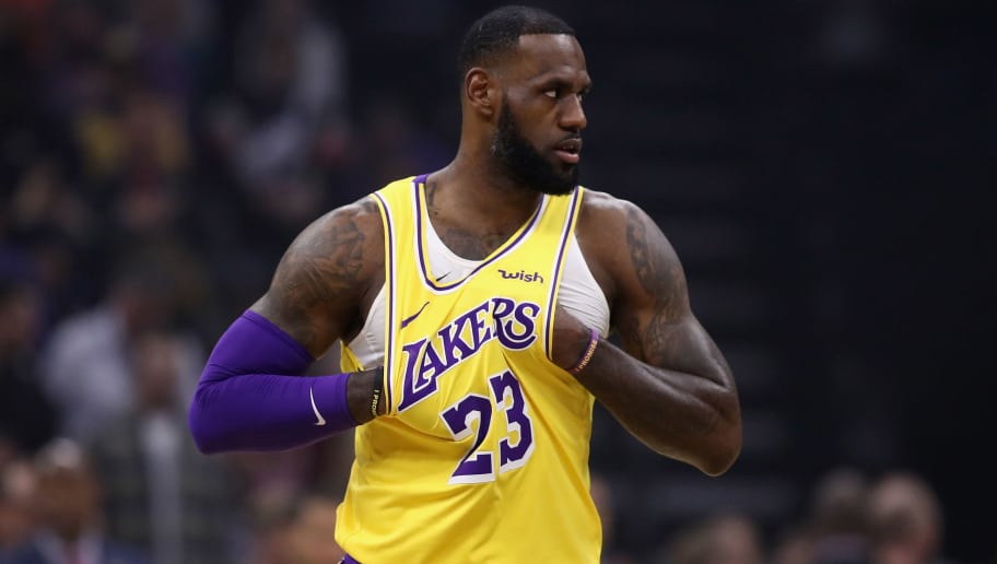 SACRAMENTO, CA - NOVEMBER 10:  LeBron James #23 of the Los Angeles Lakers gets ready before their game against the Sacramento Kings at Golden 1 Center on November 10, 2018 in Sacramento, California.  NOTE TO USER: User expressly acknowledges and agrees that, by downloading and or using this photograph, User is consenting to the terms and conditions of the Getty Images License Agreement.  (Photo by Ezra Shaw/Getty Images)