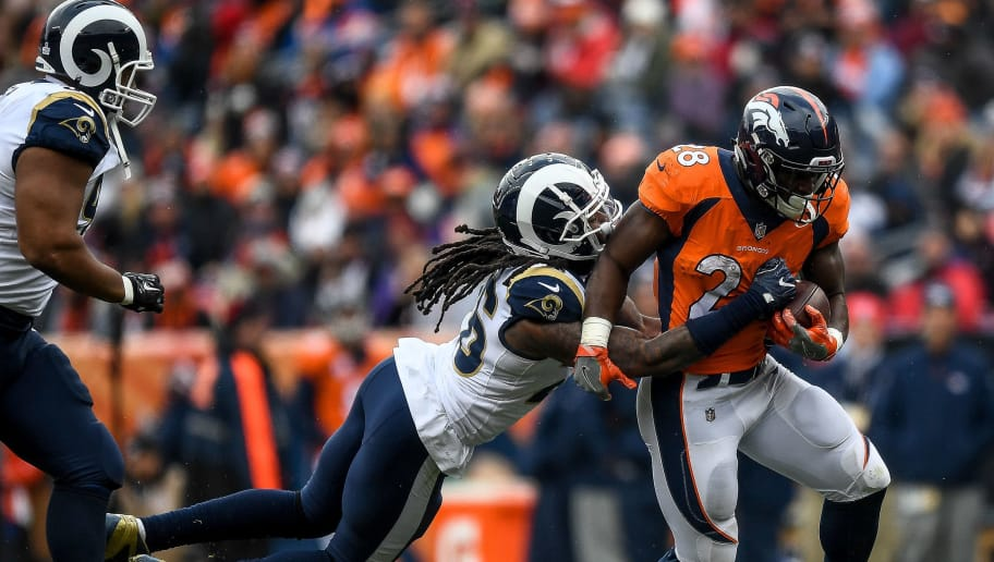 classic fit 2e700 9684a Broncos RB Royce Freeman Aiming to Play Against Chiefs   12up