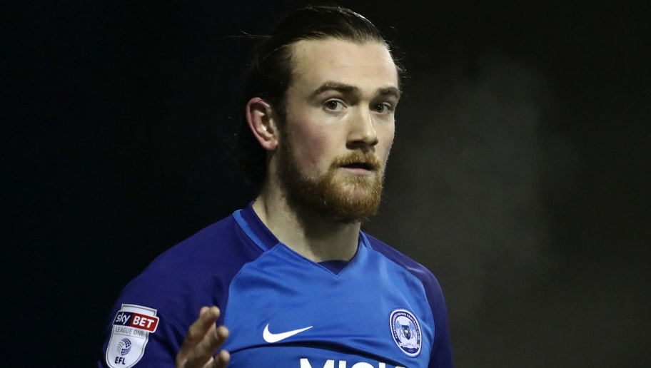 LUTON, ENGLAND - JANUARY 09: Jack Marriott of Peterborough United during the EFL Checkatrade Trophy Third Round match between Luton Town and Peterborough United at Kenilworth Road on January 9, 2018 in Luton, England. (Photo by Catherine Ivill/Getty Images)