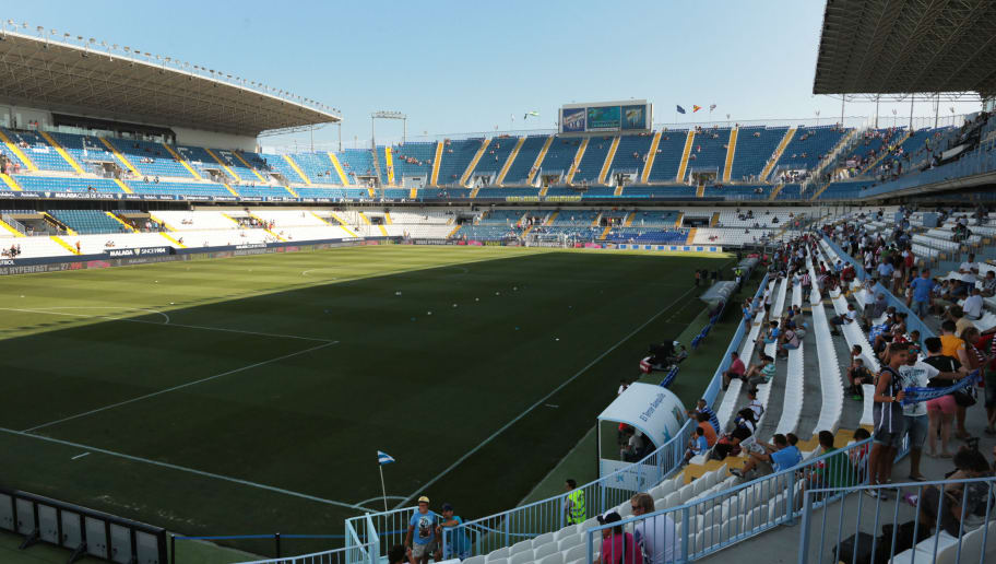 MALAGA, SPAIN - AUGUST 23:  General view of the La Rosaleda Stadium on August 23, 2014 in Malaga, Spain.  (Photo by Sergio Camacho/Getty Images)