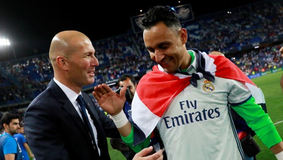 Zinedine Zidane,Keylor Navas