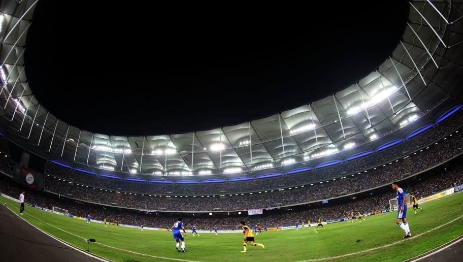 KUALA LUMPUR, MALAYSIA - JULY 21: A general view of the action during the pre-season friendly match between Malaysia and Chelsea at Bukit Jalil National Stadium on July 21, 2011 in Kuala Lumpur, Malaysia.  (Photo by Stanley Chou/Getty Images)