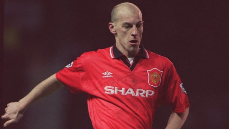 30 DEC 1995:  WILLIAM PRUNIER IN ACTION FOR MANCHESTER UNITED AGAINST QPR DURING THE PREMIER LEAGUE MATCH AT OLD TRAFFORD. MANCHESTER UNITED WON 2-1. Mandatory Credit: Mark Thompson/ALLSPORT