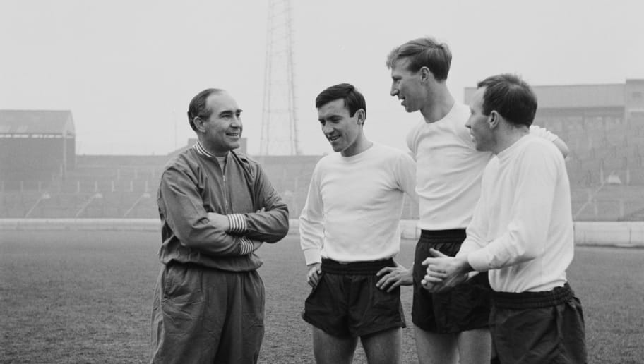 Alf Ramsey,Barry Bridges,Jackie Charlton,Nobby Stiles