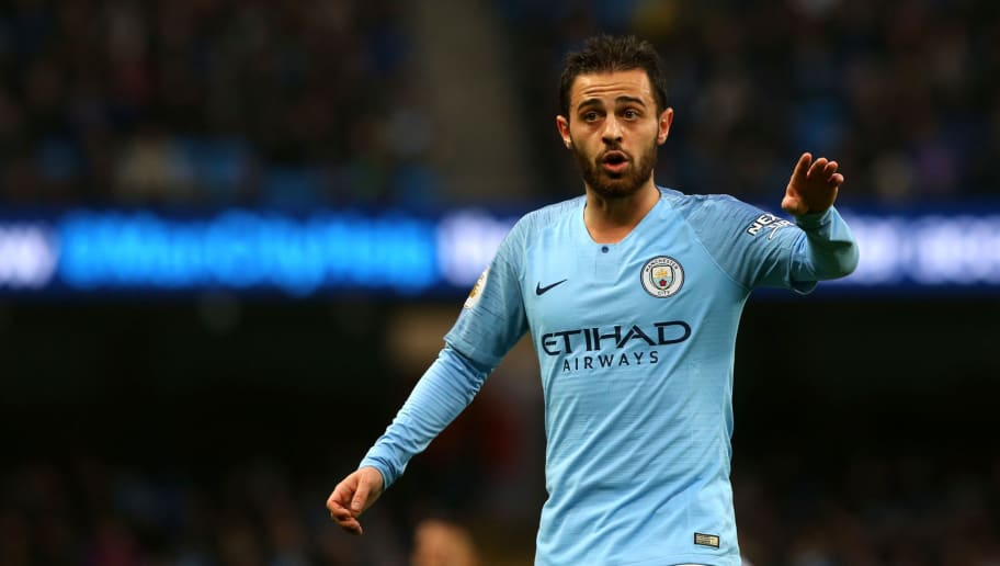 MANCHESTER, ENGLAND - DECEMBER 01: Bernardo Silva of Manchester City in action during the Premier League match between Manchester City FC and AFC Bournemouth at Etihad Stadium on December 1, 2018 in Manchester, United Kingdom. (Photo by Chloe Knott - Danehouse/Getty Images)