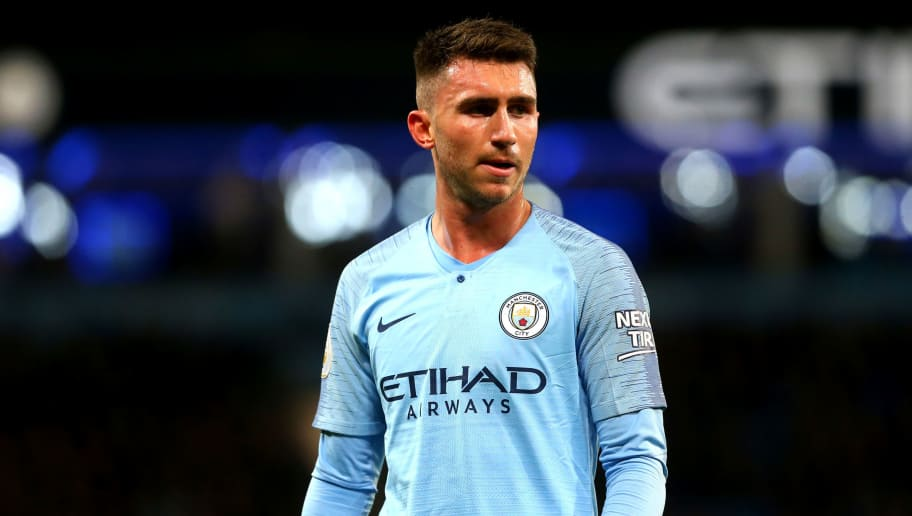 MANCHESTER, ENGLAND - DECEMBER 01: Aymeric Laporte of Manchester City in action during the Premier League match between Manchester City FC and AFC Bournemouth at Etihad Stadium on December 1, 2018 in Manchester, United Kingdom. (Photo by Chloe Knott - Danehouse/Getty Images)