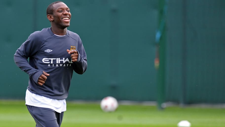 Manchester City's English midfielder Sha