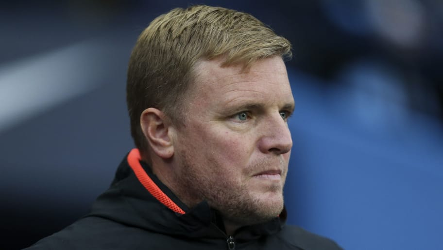 MANCHESTER, ENGLAND - DECEMBER 01: Eddie Howe the manager / head coach of Bournemouth during the Premier League match between Manchester City and AFC Bournemouth at Etihad Stadium on December 1, 2018 in Manchester, United Kingdom. (Photo by James Baylis - AMA/Getty Images)