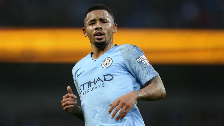 MANCHESTER, ENGLAND - DECEMBER 01: Gabriel Jesus of Manchester City during the Premier League match between Manchester City and AFC Bournemouth at Etihad Stadium on December 1, 2018 in Manchester, United Kingdom. (Photo by James Baylis - AMA/Getty Images)