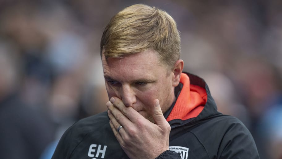 MANCHESTER, ENGLAND - DECEMBER 01: AFC Bournemouth manager Eddie Howe before the Premier League match between Manchester City and AFC Bournemouth at Etihad Stadium on December 1, 2018 in Manchester, United Kingdom. (Photo by Visionhaus/Getty Images)