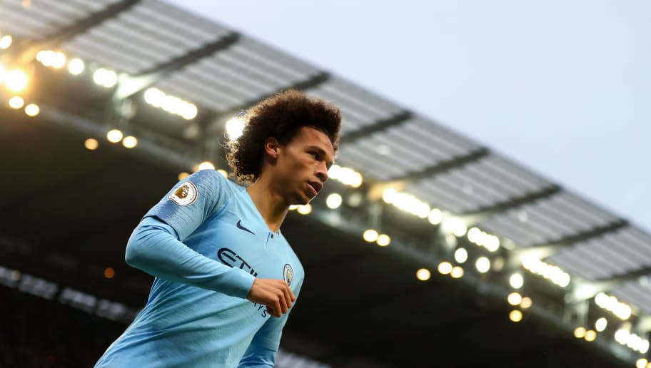 MANCHESTER, ENGLAND - DECEMBER 01: Leroy Sane of Manchester City during the Premier League match between Manchester City and AFC Bournemouth at Etihad Stadium on December 1, 2018 in Manchester, United Kingdom. (Photo by Catherine Ivill/Getty Images)