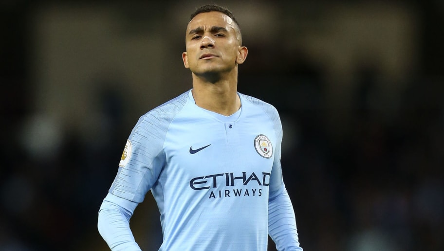 MANCHESTER, ENGLAND - DECEMBER 01: Danilo of Manchester City during the Premier League match between Manchester City and AFC Bournemouth at Etihad Stadium on December 1, 2018 in Manchester, United Kingdom. (Photo by James Baylis - AMA/Getty Images)