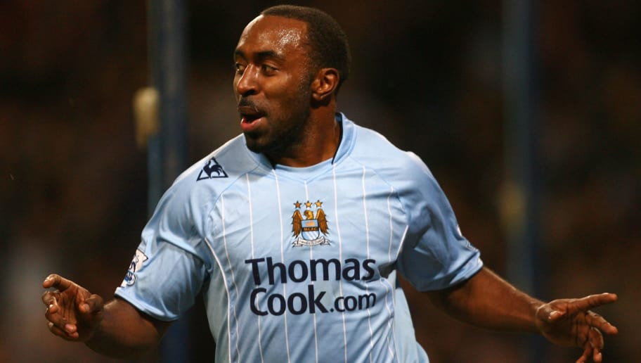 MANCHESTER, UNITED KINGDOM - DECEMBER 27:  Darius Vassell of Manchester City celebrates scoring  the opening goal during the Barclays Premier League match between Manchester City and Blackburn Rovers at The City of Manchester Stadium on January 20, 2007 in Manchester, England.  (Photo by Alex Livesey/Getty Images)