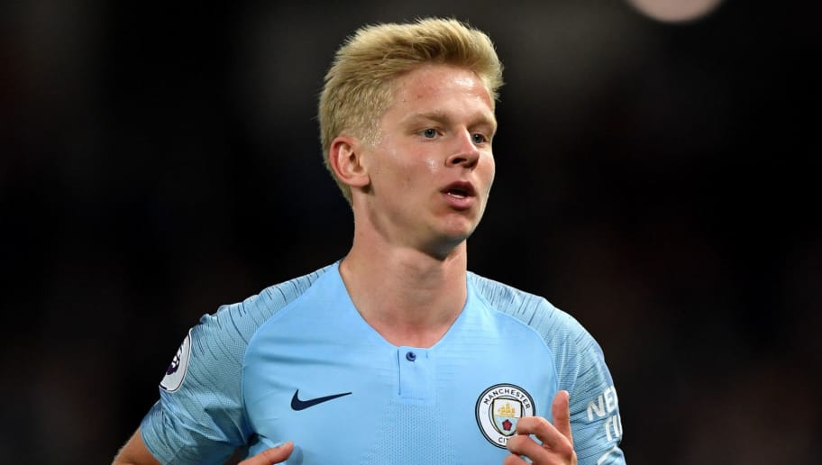 MANCHESTER, ENGLAND - MAY 09:  Oleksandr Zinchenko of Manchester City during the Premier League match between Manchester City and Brighton and Hove Albion at Etihad Stadium on May 9, 2018 in Manchester, England.  (Photo by Gareth Copley/Getty Images)