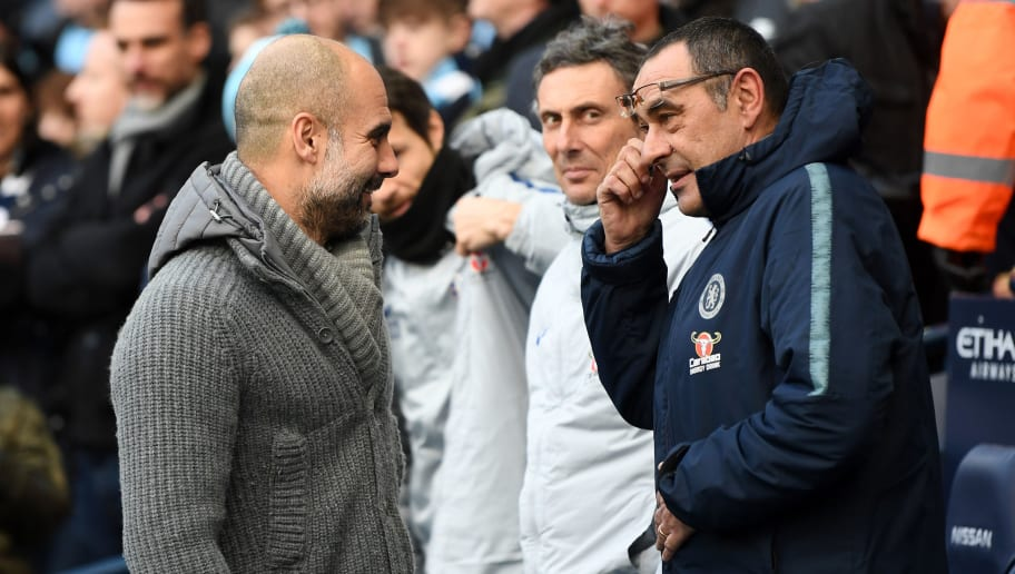Maurizio Sarri Points at 'Lucky' Pep Guardiola as Reason for Chelsea to Keep Faith in Him