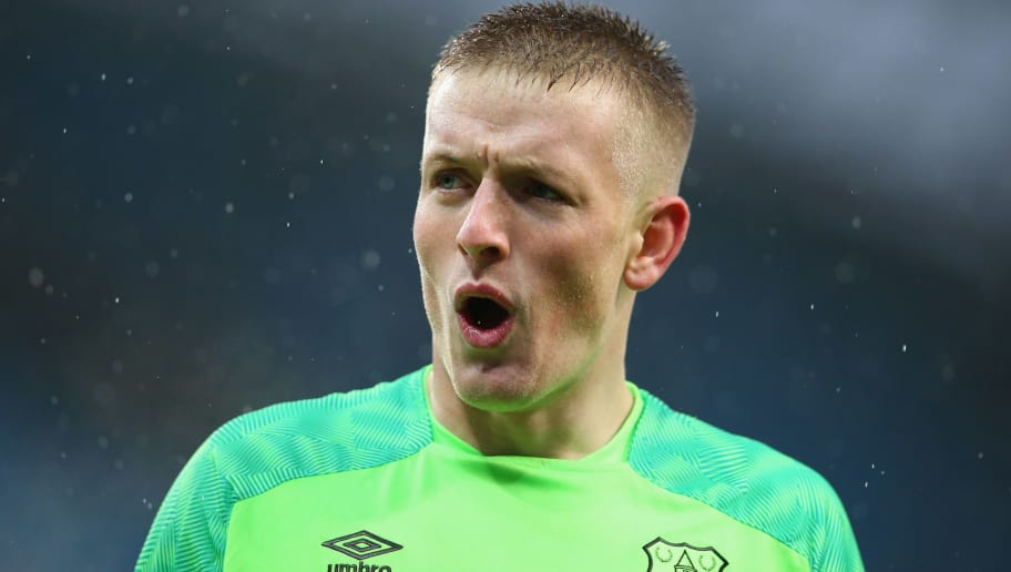 MANCHESTER, ENGLAND - DECEMBER 15:  Jordan Pickford of Everton FC reacts after the Premier League match between Manchester City and Everton FC at Etihad Stadium on December 15, 2018 in Manchester, United Kingdom.  (Photo by Alex Livesey/Getty Images)