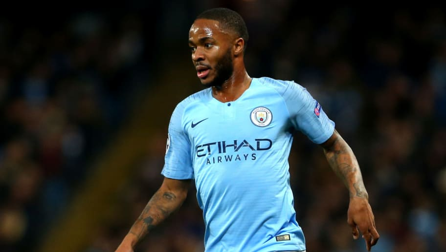 MANCHESTER, ENGLAND - NOVEMBER 07: Raheem Sterling of Manchester City in action during the Group F match of the UEFA Champions League between Manchester City and FC Shakhtar Donetsk at Etihad Stadium on November 7, 2018 in Manchester, United Kingdom. (Photo by Chloe Knott - Danehouse/Getty Images)