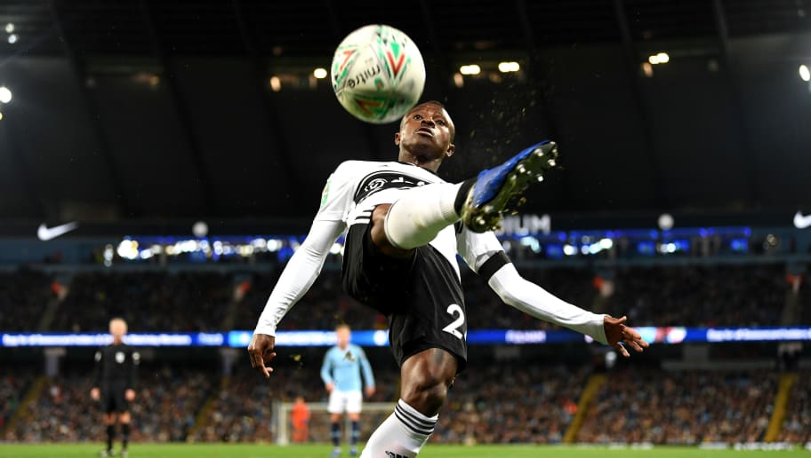 MANCHESTER, ENGLAND - NOVEMBER 01:  Jean Michael Seri of Fulham reaches to control the ball during the Carabao Cup Fourth Round match between Manchester City and Fulham at Etihad Stadium on November 1, 2018 in Manchester, England.  (Photo by Michael Regan/Getty Images)