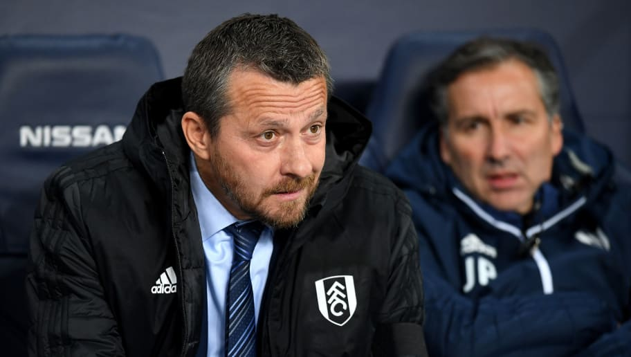 MANCHESTER, ENGLAND - NOVEMBER 01:  Slavisa Jokanovic, Manager of Fulham looks on prior to the Carabao Cup Fourth Round match between Manchester City and Fulham at Etihad Stadium on November 1, 2018 in Manchester, England.  (Photo by Michael Regan/Getty Images)